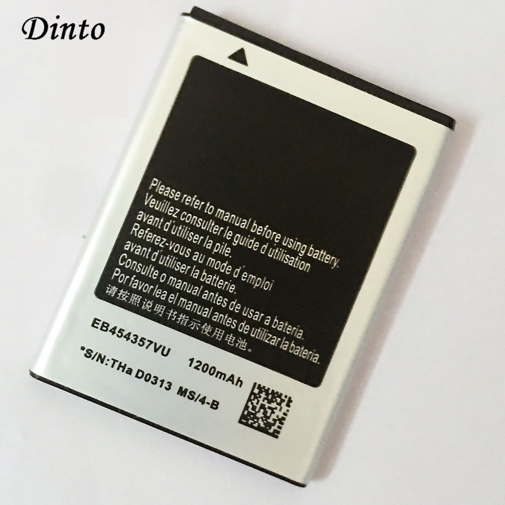 Dinto 1200mAh EB454357VU Replacement Mobile Phone <font><b>Battery</b></font> for <font><b>Samsung</b></font> SCHI509 GT-S5368 <font><b>S5300</b></font> S5380 GTS5360 i509 B5510 Wave Y image