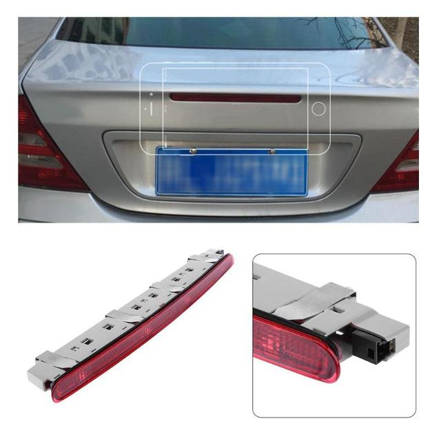 Auto Car Rear Trunk Replacement Red LED Third Stop Brake Light Lamp For 01 06 Benz W203 C180 C200 C230 C280 C240 C300  New
