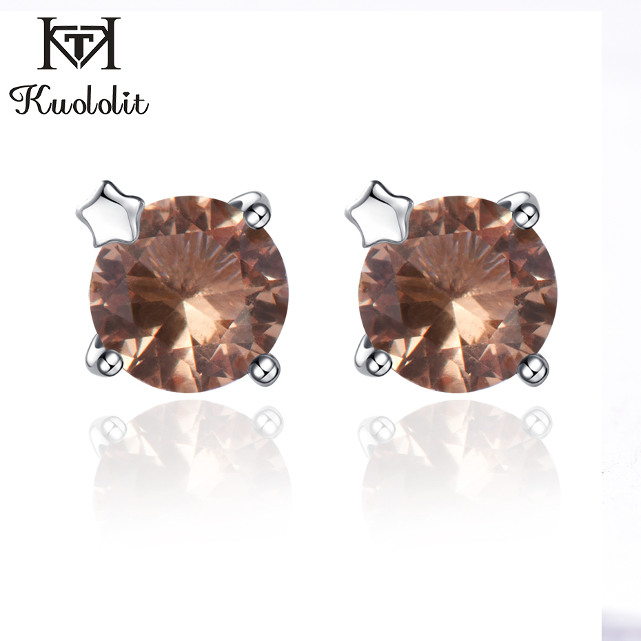 Kuololit Zultanite Gemstone Stud Earrings for Women  Solid 925 Sterling Silver Engage Created Color Change Earrings Fine JewelryKuololit Zultanite Gemstone Stud Earrings for Women  Solid 925 Sterling Silver Engage Created Color Change Earrings Fine Jewelry