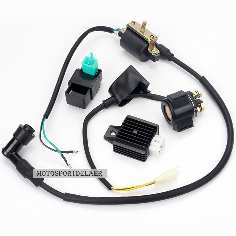 New Ignition Coil 5 Pin CDI 12v Regulator Rectifier Relay For 50 70 90 110 125 Cc Chinese ATV Quad Dirt Bike