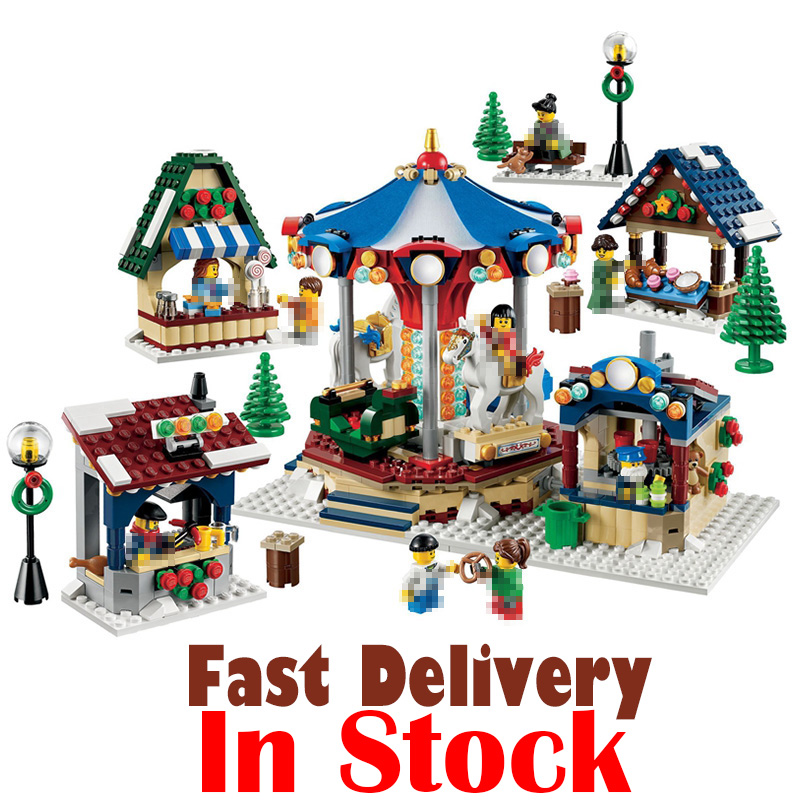 LEPIN 36010 Winter Village Market Street View Creator Building Blocks Bricks Toys DIY For Kid 1412PCS Compatible legoINGly 10235 lepin 36010 genuine creative series the winter village market set legoing 10235 building blocks bricks educational toys as gift