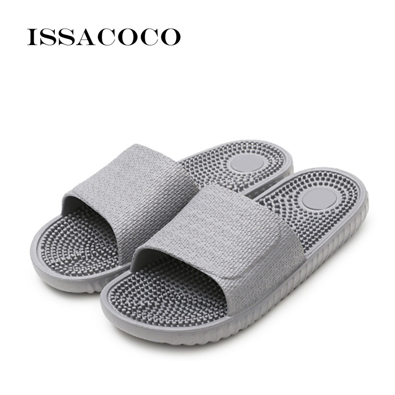 ISSACOCO 2018 Shoes Men Slippers Sandals Indoor Home Non-slip Solid - Men's Shoes - Photo 3