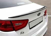 Primer Unpainted ABS Sports Car Rear Trunk Spoiler Wing For KIA K5 2014 2015 No Drilling