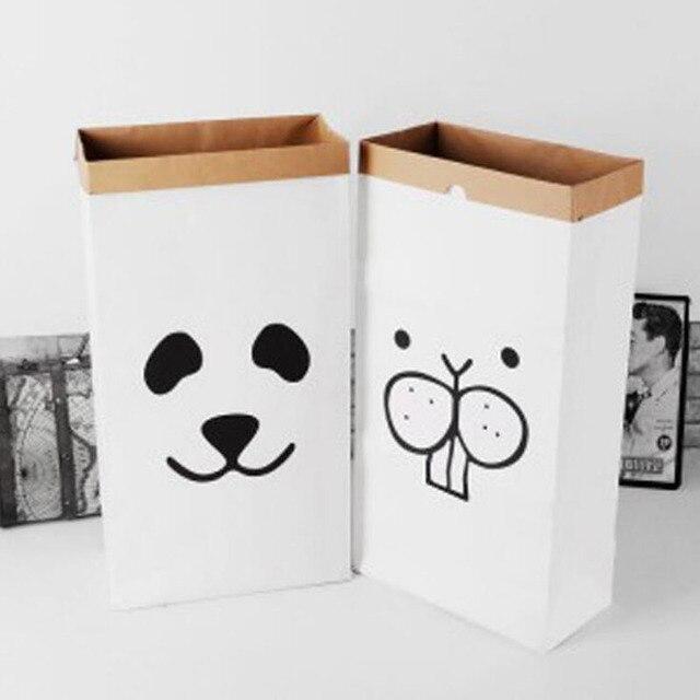 Ordinaire 1 Pc Childrenu0027s Debris Collection Kraft Paper Bag Convenient Kraft Paper  Storage Bags Laundry Bag Toys