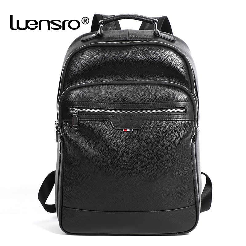 2019 новый мужской рюкзак из натуральной кожи, модная школьная сумка для подростка, для мальчиков, дорожная сумка для мужчин, рюкзак для ноутбука, кожаные сумки
