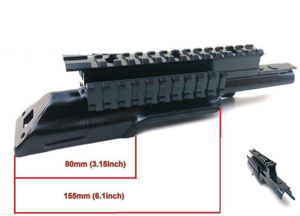 Airsoft AK 47 Ricevitore Coperchio Superiore Scope Mount Series Tri-Rail Integral Picatinny del Fucile Del Tessitore Ferroviario Top Scope Mount accessori