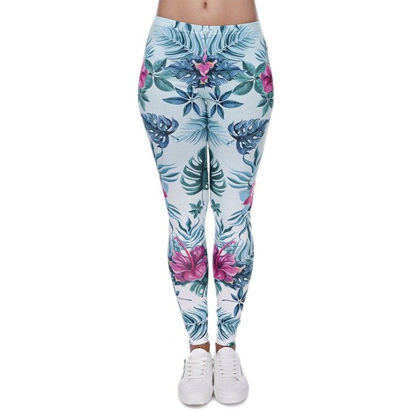 30 verschillende Patronen van Vrouwen 3D Printing Fitness Slanke Leggings Mode Toevallige Melk Zijde Stof Gespannen Broek-in Leggings van Dames Kleding op  Groep 2