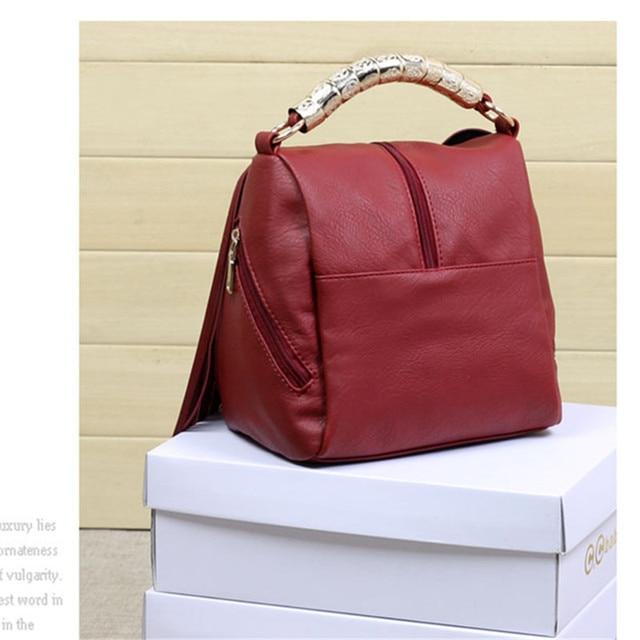 High quality Tassel mini Shoulder Bag Women Vintage Middle zipper Handbags Ringe Satchel small Crossbody Bag Bolsas Femininas