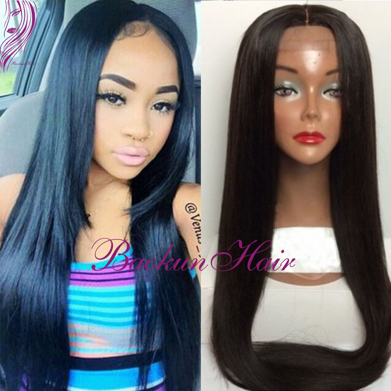 #1b Color Silky Straight Wig Synthetic Lace Front Wig Natural Black Lace Front Wig Glueless Long Silk Straight synthetic wig