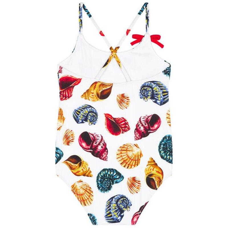 Summer 2018 Baby Girls Swimwear Straps Printed Flower Kids Swimsuit For Girls Infant Beach Wear One-Piece Toddler Bathing Suit