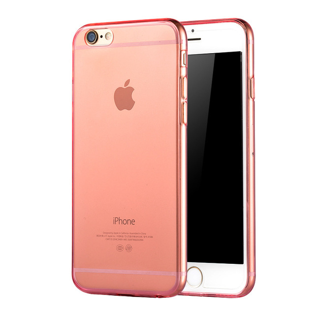reputable site 1bd1a de186 US $3.5 |Best Ultra Thin Transparent Clear TPU Rose Gold Silicone Soft Case  for iphone 6 4.7