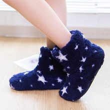 Zuzuwu  Fur Slipper Boots For Women And Men Thick Fluffy Non-Slip Warm House Shoes Indoor