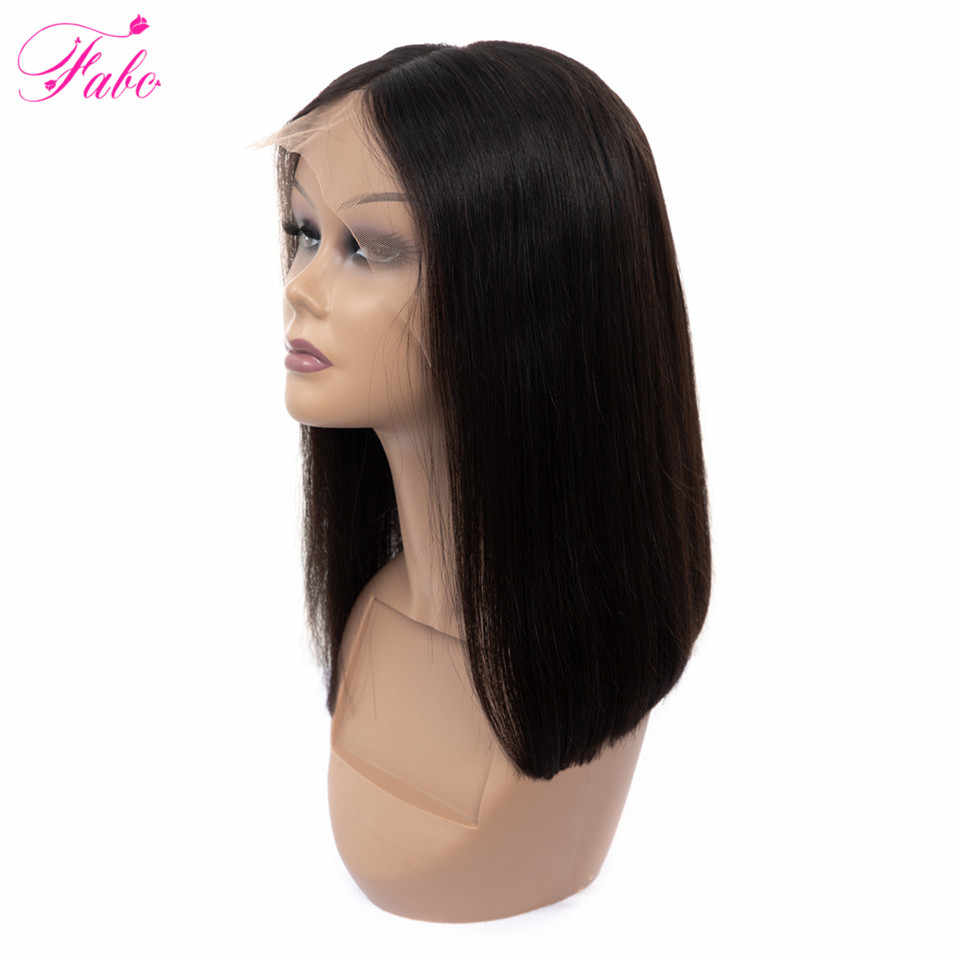 FABC Hair Lace Front Human Hair Wigs Brazilian Remy Hair Straight Bob Wig with Pre Plucked Hairline Short Bob Wigs 150% Density