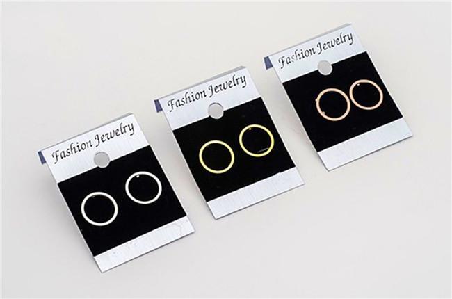 Minimalism Kõrvarõngad Charm Circle Karma kõrvarõngad naistele - Mood ehteid - Foto 6