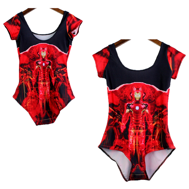 89326887ae Red Iron Man 3d Print Women Backless Swimming Wear One Piece Bodysuit  Superhero Iron Man Cosplay Beach Bathing Suit Monokinis