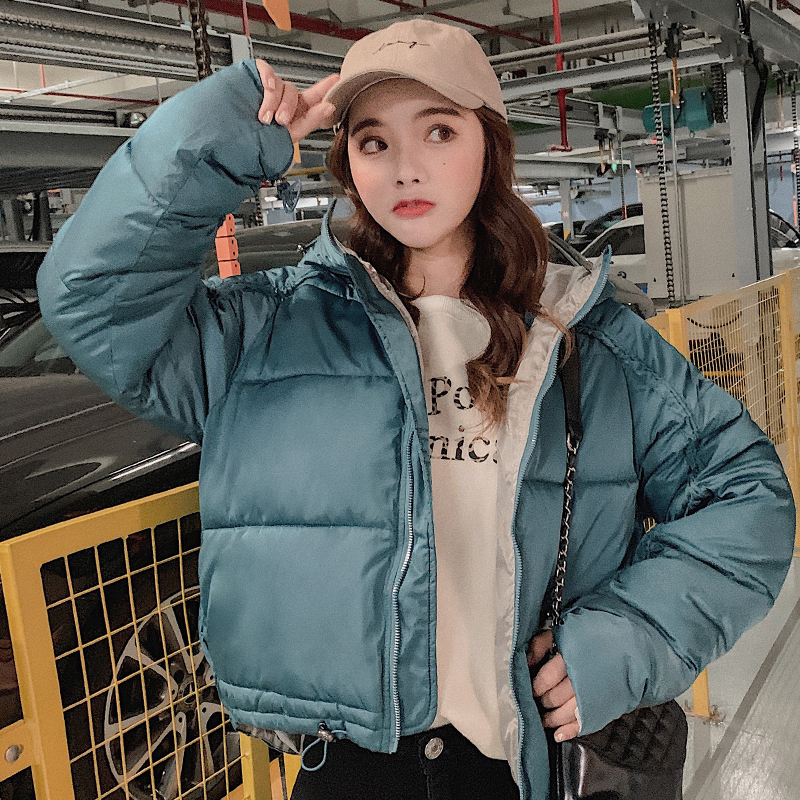 2019 New Fashion Winter Jacket Women Hooded Outwear Cotton Padded Ladies Coat Short   Parka   Casaco Feminino