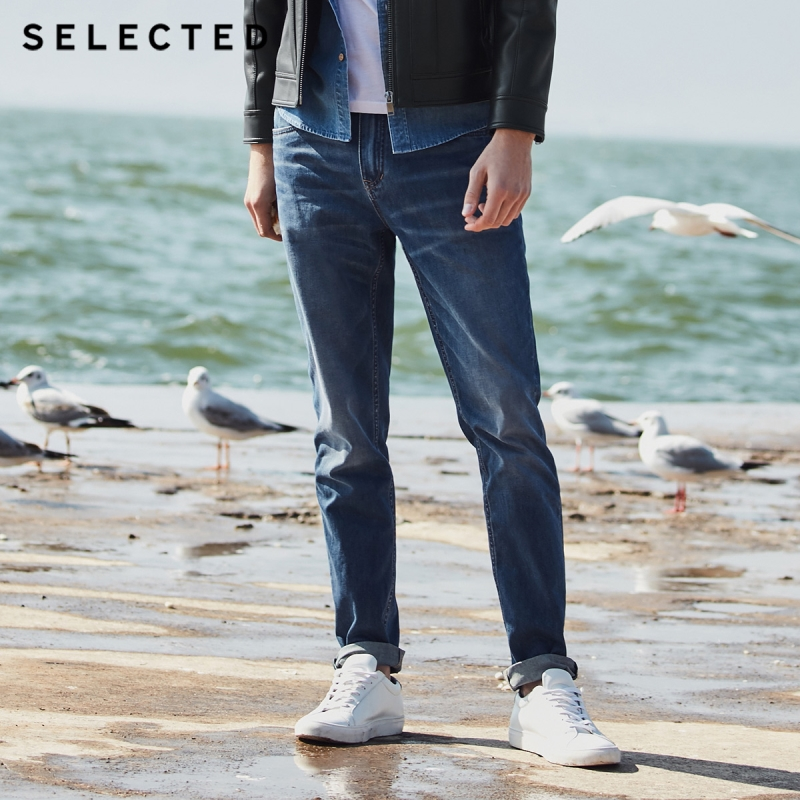 SELECTED New Men's Casual   Jeans   Cotton-containing Micro-elastic Tapered Clothes Denim Pants C   418232516