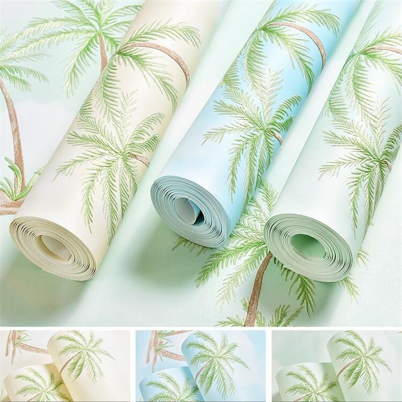 Beibehang asie du sud-est Tropical cocotier environnement Relief papier peint salon chambre TV fond 3d papier peint