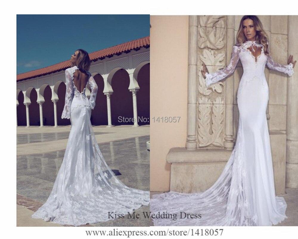 2015 Sexy Russian Berta Wedding Dresses Lace Mermaid