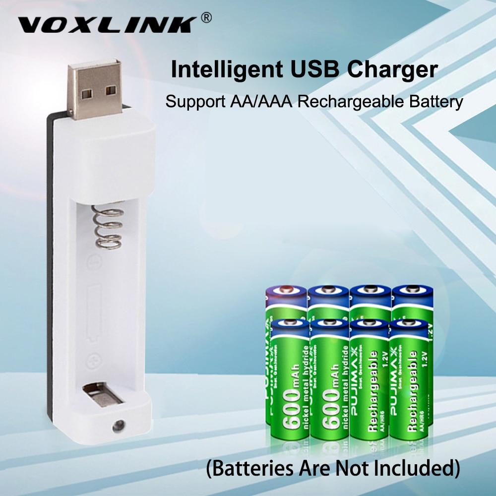 VOXLINK PJN101 Display LED Com 1 Slot de Carregador de Bateria Para AA/AAA NiMh NiCd Baterias Recarregáveis Carregador
