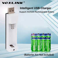 VOXLINK PJN101 LED Display With 1 Slot Battery Charger For AA/AAA NiCd NiMh Rechargeable Batteries Charger