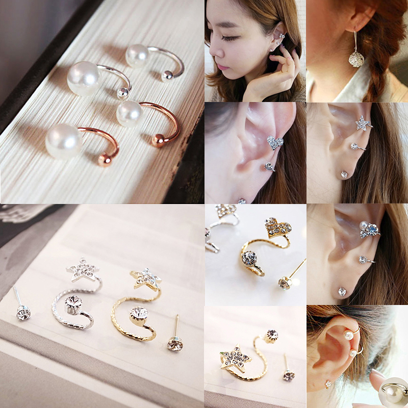 Hot 2018 Ear Clip Invisibility Wrap Cartilage Cuff Stud Non Piercing Clip Earring For Women Jewelry