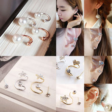 Hot 2018 Ear Clip Invisibility Wrap Cartilage Cuff Stud Non Piercing Clip Earring For Women Jewelry(China)