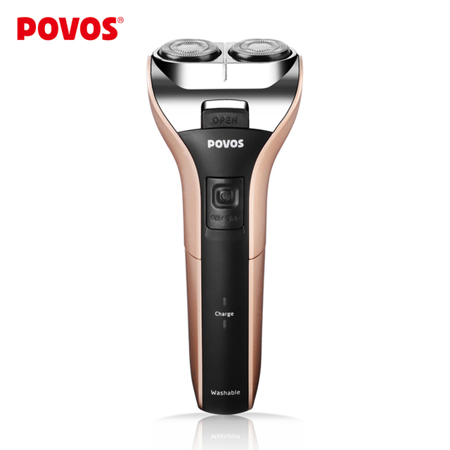 POVOS Rechargeable Dual-head Fully Washable Pocket Portable Electric Shaver Shaving PW909