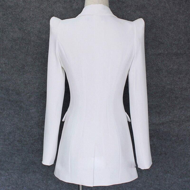 Image 2 - Qualidade superior 2020 novo designer elegante blazer feminino  encolher ombro único botão jaqueta blazer brancoBlazers   -