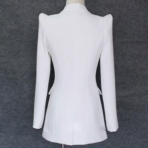 Image 2 - TOP QUALITY 2020 New Stylish Designer Blazer Womens Shrug Shoulder Single Button White Blazer Jacket