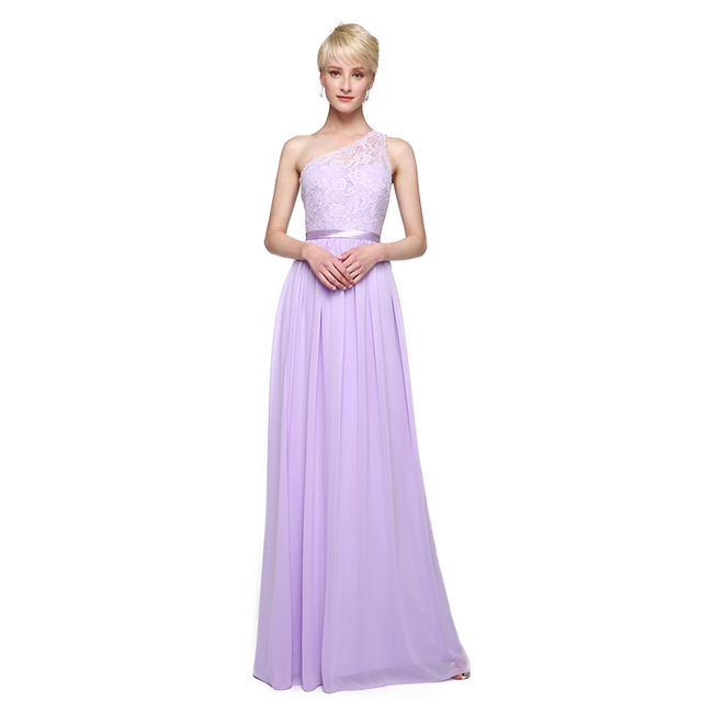 295321cbe8 LAN TING BRIDE Sheath / Column One Shoulder Bridesmaid Dress Floor Length  Chiffon with Appliques Sash