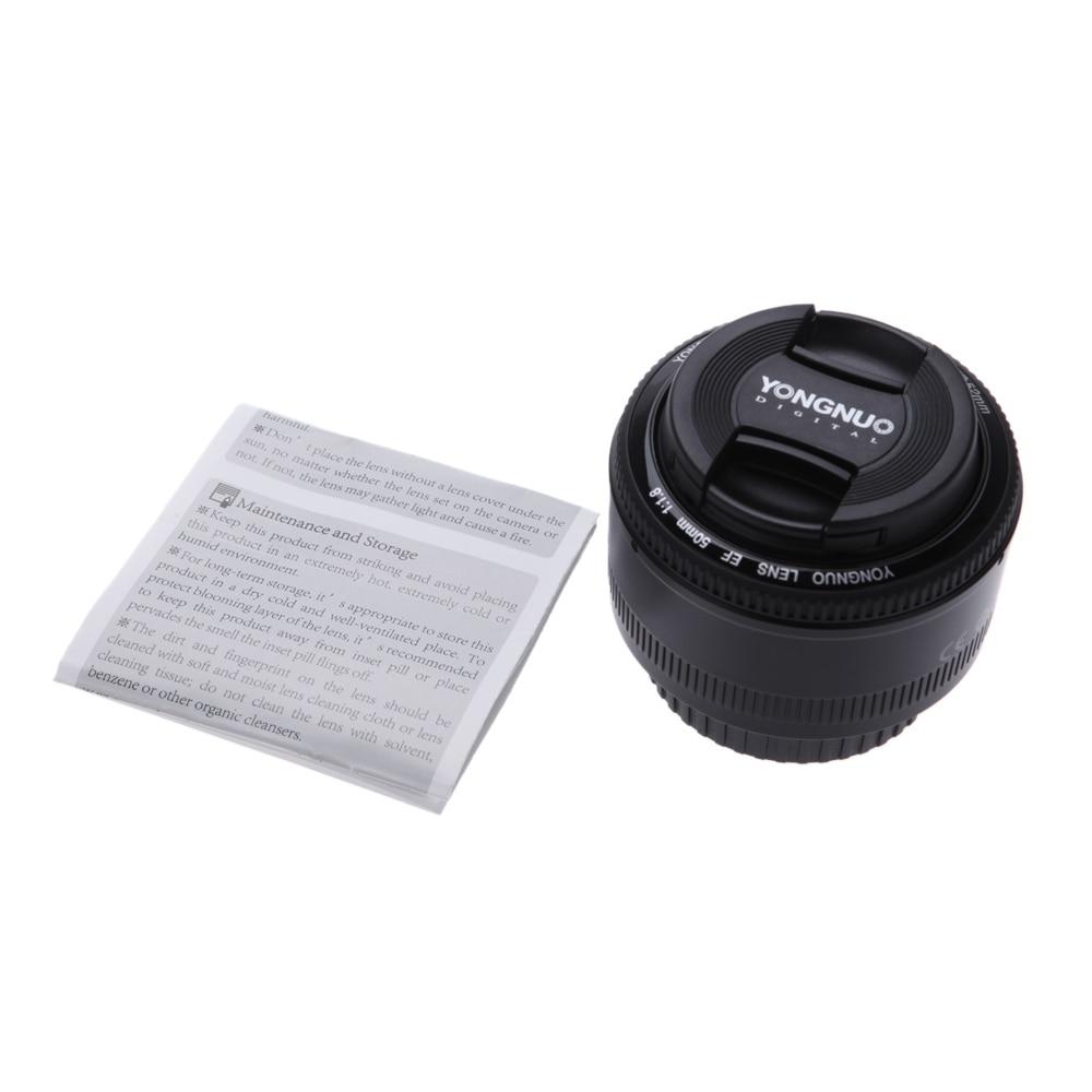 Image 5 - 4pcs/6pcs YONGNUO Lens YN50mm f1.8 YN EF 50mm YN50 Aperture AF Lens for Canon EOS 60D 70D 5D2 5D3 600d Camera DropshippingCamera Lens   -