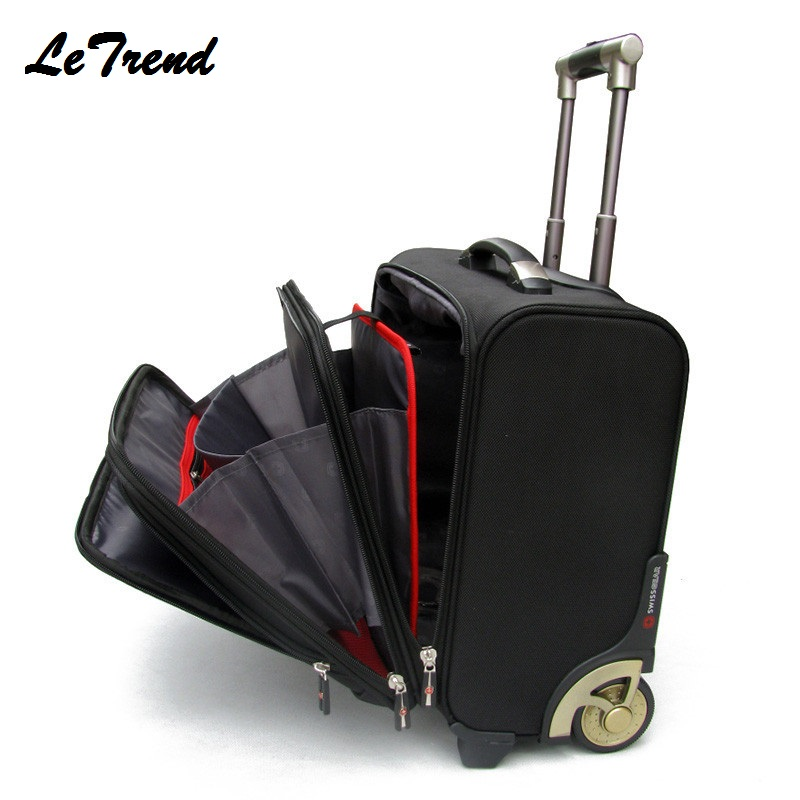New Business Multifunction Boarding Suitcase Travel Oxford Rolling Luggage Casters 16/18 Inch Men Large Capacity Travel Luggage