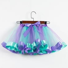Baby Girl Skirts Princess Tutu Skirt Baby Girls Clothes Rainbow Kids Party Tutu for Girls Skirts Children Ball Gown Clothes цена 2017