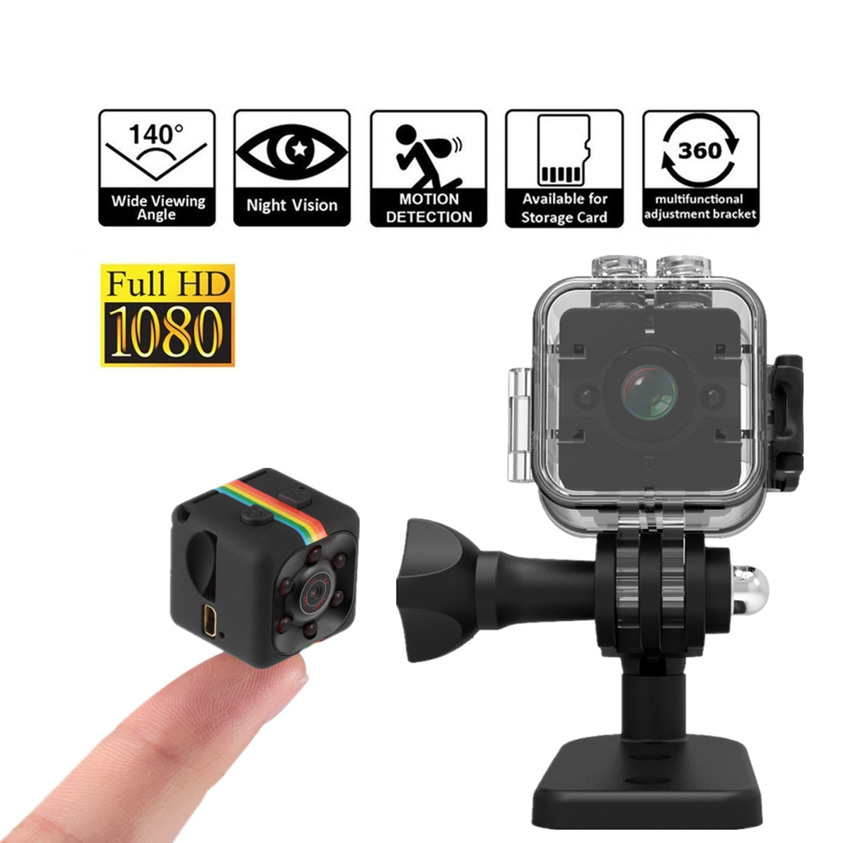 Mini Camera SQ11 1080P Full HD Micro Cam Motion Detection Camcorder Infrared Night Vision Video Recorder Wide Angle sq12 SQ 11