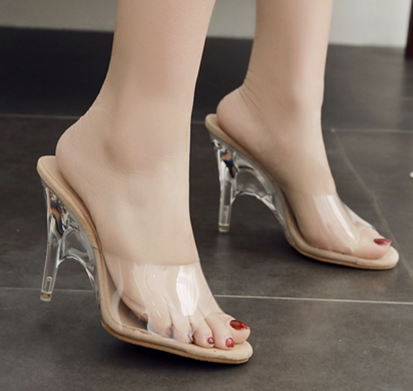 2019 New Summer Female <font><b>Slippers</b></font> <font><b>Shoes</b></font> Fish Mouth <font><b>Sexy</b></font> Transparent Crystal <font><b>Slippers</b></font> <font><b>Women</b></font> <font><b>Shoes</b></font> <font><b>High</b></font> <font><b>Heels</b></font> 11cm Ladies <font><b>Shoes</b></font> image