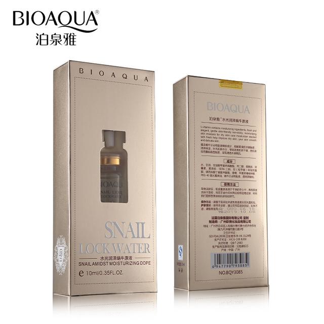 BIOAQUA Face Skin Care Snail Liquid Serum Essence Moisturizing Hydrating Lift Firming Anti Wrinkle Anti Aging Whitening 10ml