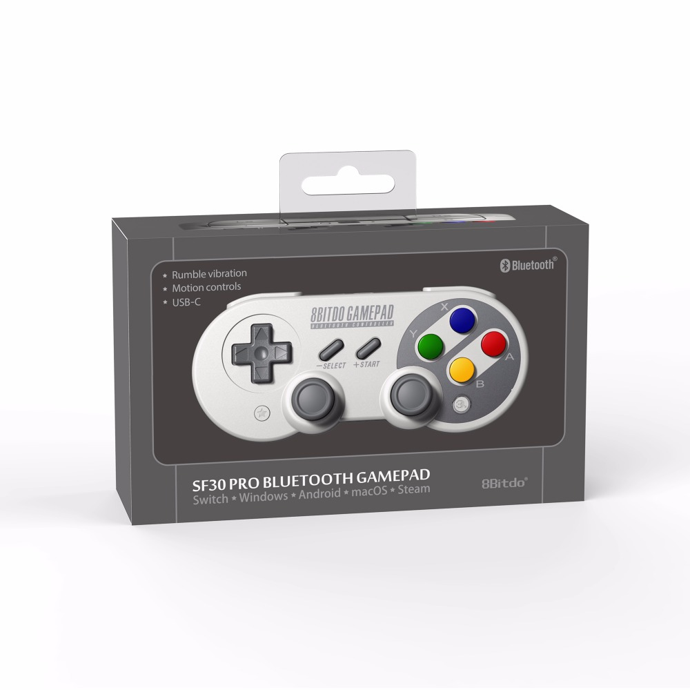 Official 8BitDo SN30 Pro Wireless Bluetooth Gamepad Controller with Joystick for Windows Android macOS Nintendo Switch Steam 24