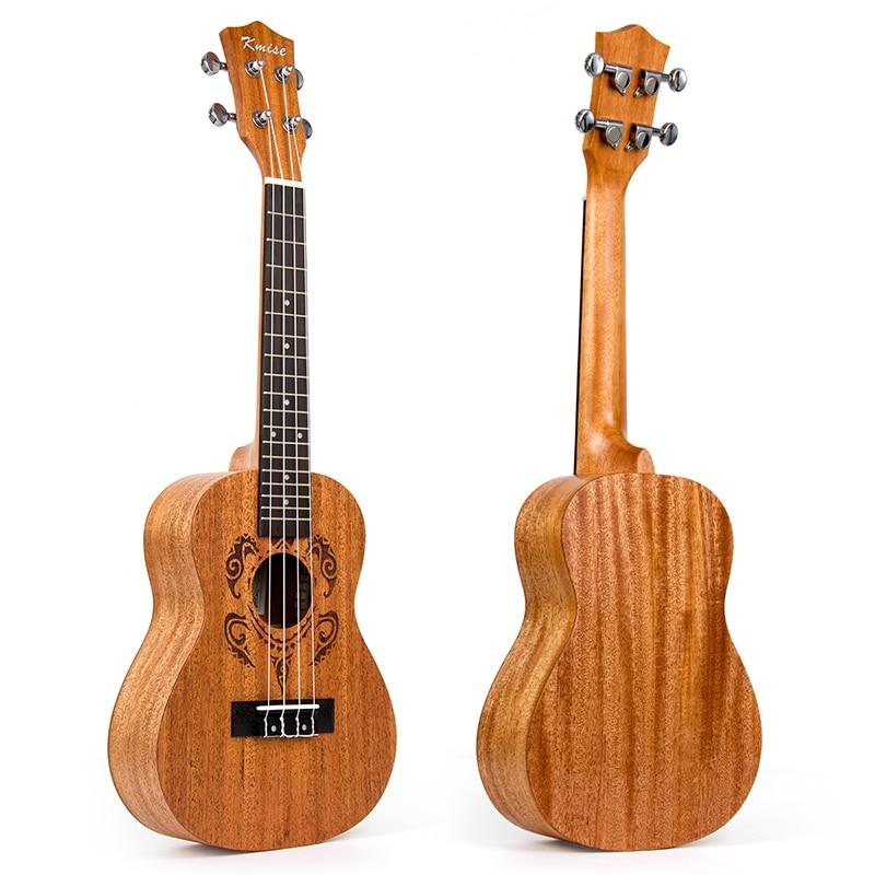 Kmise Concert Ukulele Mahogany Ukelele Uke 23 inch 4 String Hawaii Guitar Rosewood Bridge kmise concert ukulele black tint satin ukelele uke sapele 23 inch 18 frets 4 string hawaii acoustic guitar with gig bag