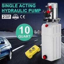 10 кварта подъемники для автомобилей гидравлический пластмассовый насос Питание блок одностороннего действия для Самосвальный Полуприцеп 12V