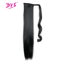 Deyngs 60cm Lång Straight Clip In Hair Tail False Hair Hästsvans Hairpiece With Hairpins Syntetisk Hår Pony Tail Hair Extensions