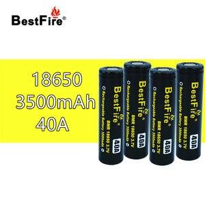 Image 1 - 4pcs Bestfire18650 Rechargeable Battery 3.7V 3500mAh 40A for SMOK X Priv Alien AL85 Majesty Vape Mod Kit VS ICR18650 VTC6 B014