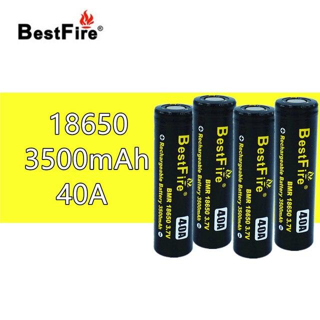 4pcs Bestfire18650 Rechargeable Battery 3.7V 3500mAh 40A for SMOK X Priv Alien AL85 Majesty Vape Mod Kit VS ICR18650 VTC6 B014