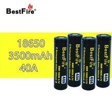 Bestfire18650 batería recargable de 3,7 V, 3500mAh, 40A, para SMOK X Priv Alien AL85 Majesty Vape Mod Kit VS ICR18650 VTC6 B014, 4 Uds.