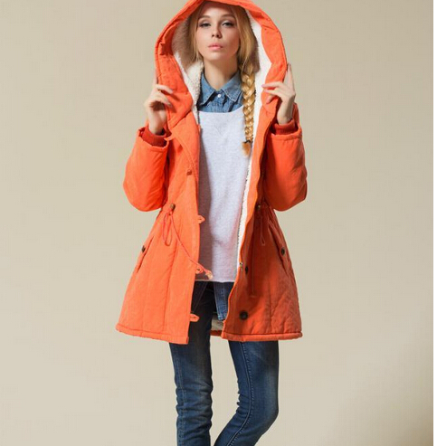 Large Size Womens Wadded Jacket New Winter Coat Fashion Cotton Jackets Female Hooded Casual Parka Female Outerwear Coat C1107 2017 new winter women wadded jacket outerwear plus size hooded loose thickening casual cotton wadded coat parkas student ws299
