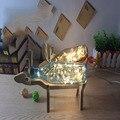 ПРИВЕЛО Море Синяя Бутылка Клип Настольная Лампа 110 В-220 В Длина Линии 120 см Серый Дым Стекла Ручной Работы Бюро Свет Олень Деревянная Рамка Таблица лампы