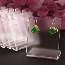 10pcs 43*35mm Clear Acrylic Earring Display Stand Holder With Protect Flim,Fashion Jewelry Display stand jewelry organizer