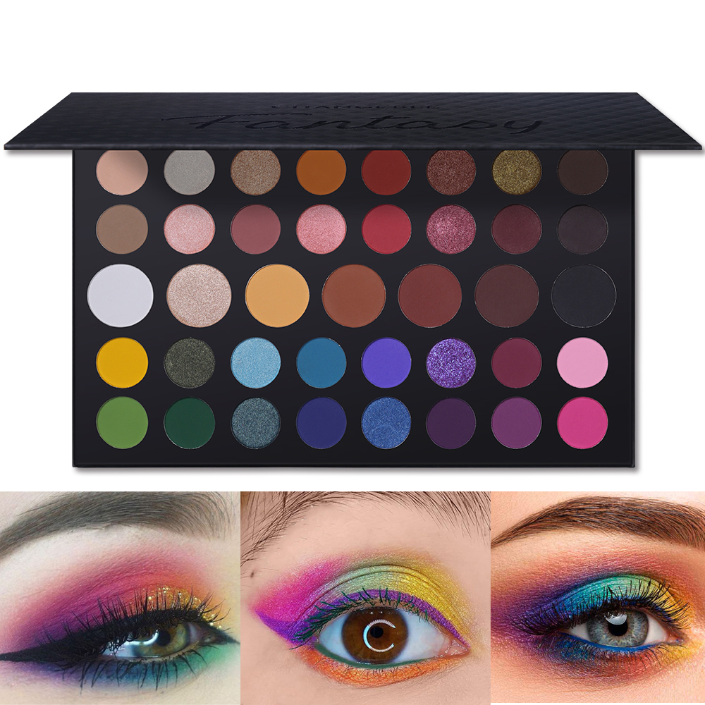Smart Pro Brand 39 Colors Nude Shimmer Matte Eyeshadow Palette Glitter Metallic Makeup Natural Brilliant Beauty Eye Shadow Kit Beauty Essentials