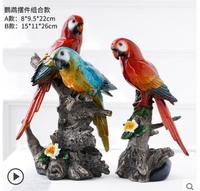 Creative parrot furniture living room TV cabinet wine cabinet simulation small bird craft sculpture decoration air home crafts