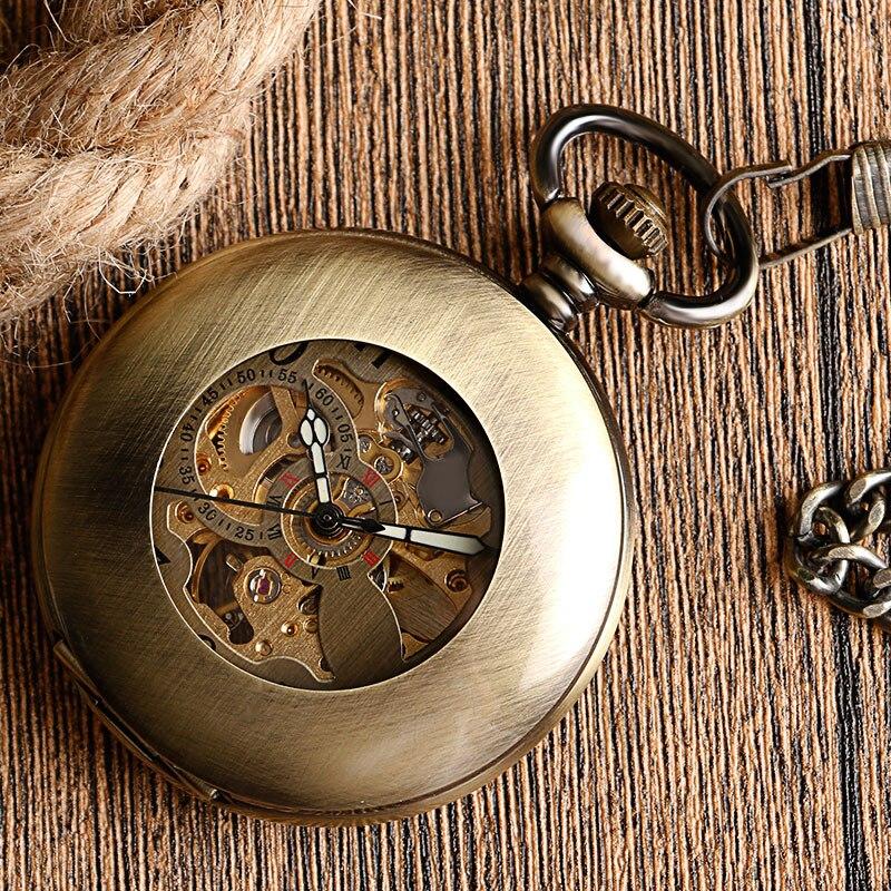 ec8bfdf78df Relógios de Bolso e Fob Relógio de Bolso de Bronze Fresco Mecânico ...